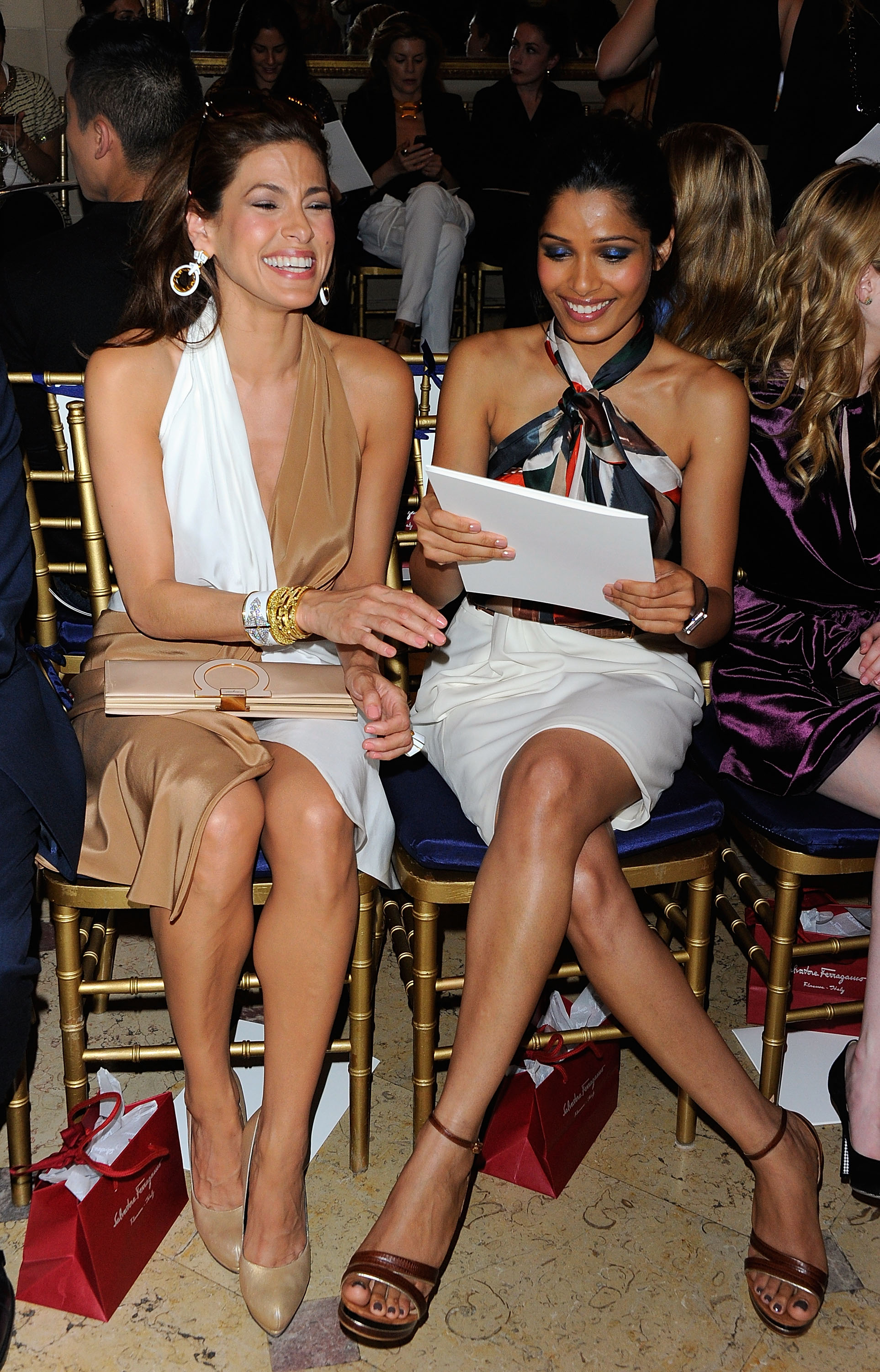 Eva Mendes and Freida Pinto