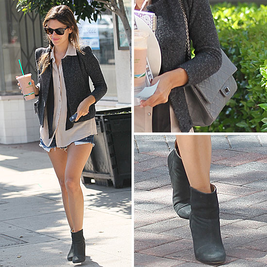 Rachel Bilson Wearing Boots and Shorts in LA: Get the Look ...