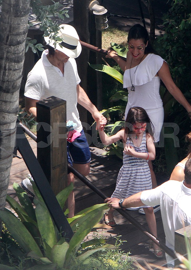 Tom Cruise and Suri Cruise on his birthday.