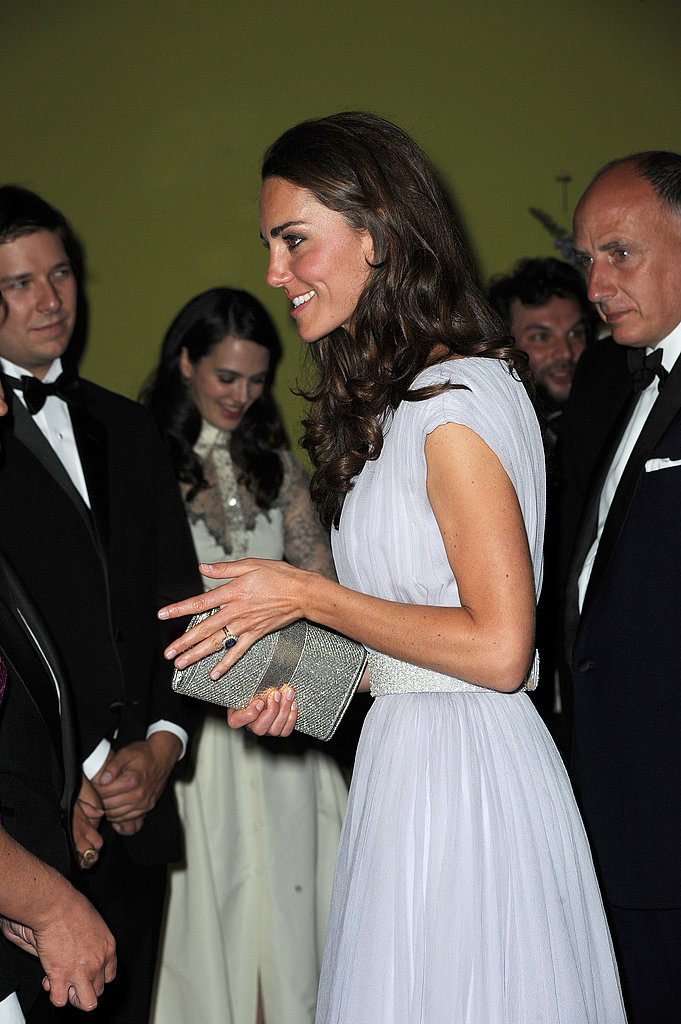 Kate Middleton in Alexander McQueen at BAFTA Brits to Watch dinner.
