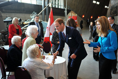 Prince William greeted admirers.