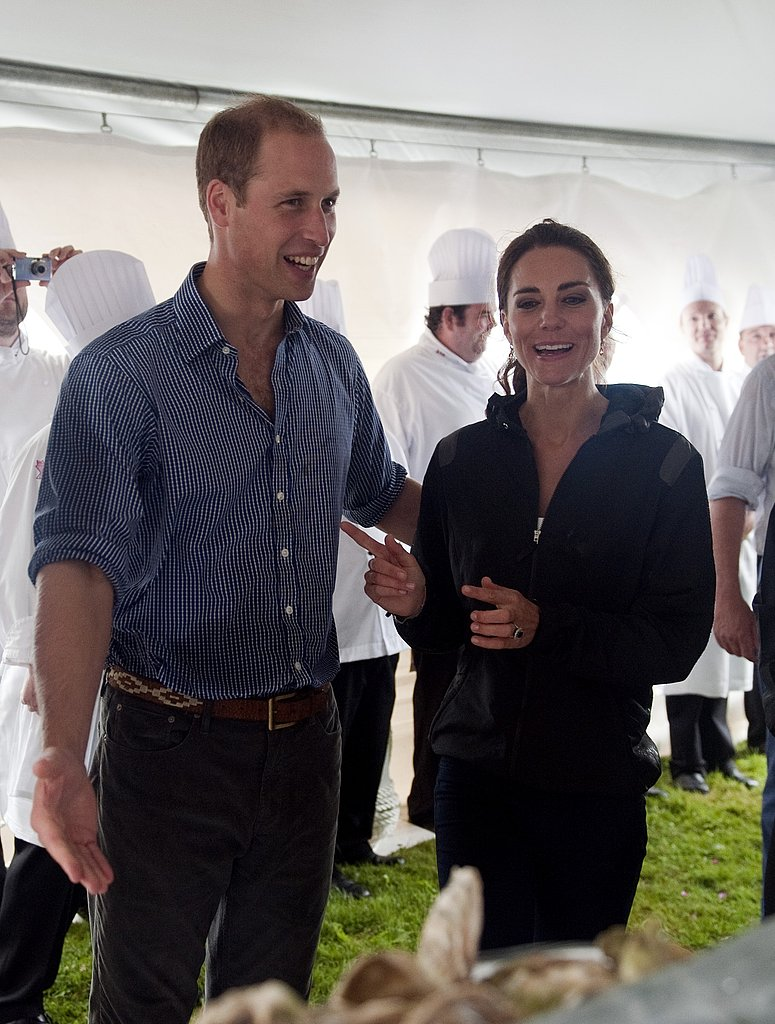 Kate Middleton and Prince William tasted the local cuisine.