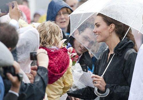Kate Middleton kept the rain away.