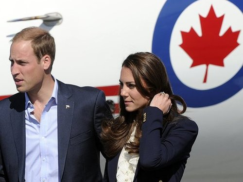 Kate Middleton and Prince William touched down at a Canada airport.