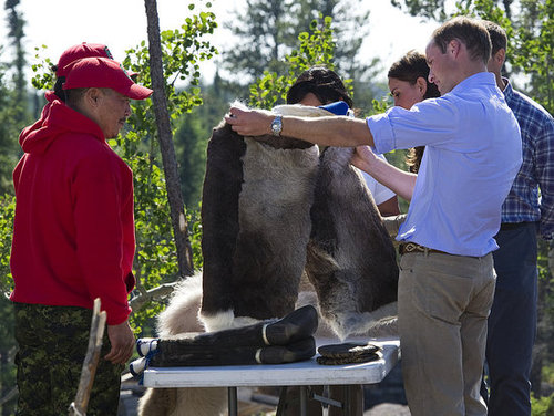 Prince William spoke with Canadian Rangers.