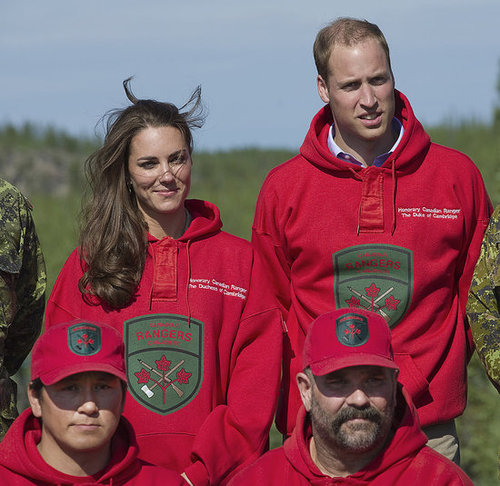 Prince William and Kate Middleton wore Canadian Rangers sweatshirts.