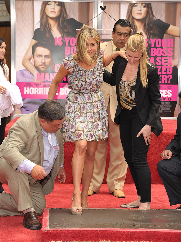 Jennifer Aniston's Hollywood Handprint Ceremony