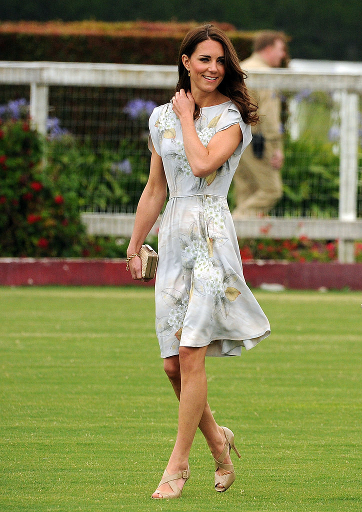 Kate Middleton in Jenny Packham in Santa Barbara.