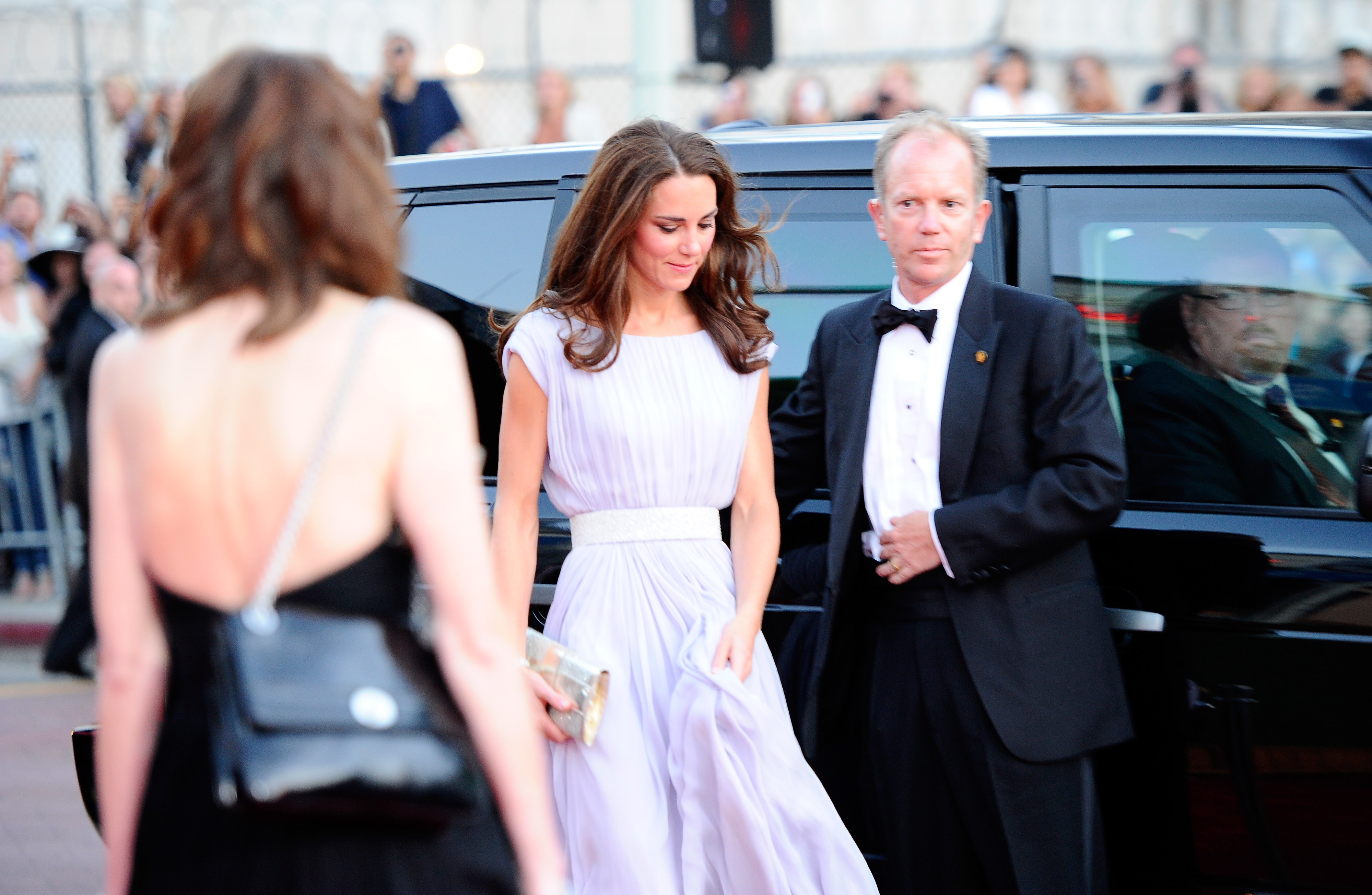 Kate Middleton in Alexander McQueen at the BAFTA Brits to Watch event in LA.