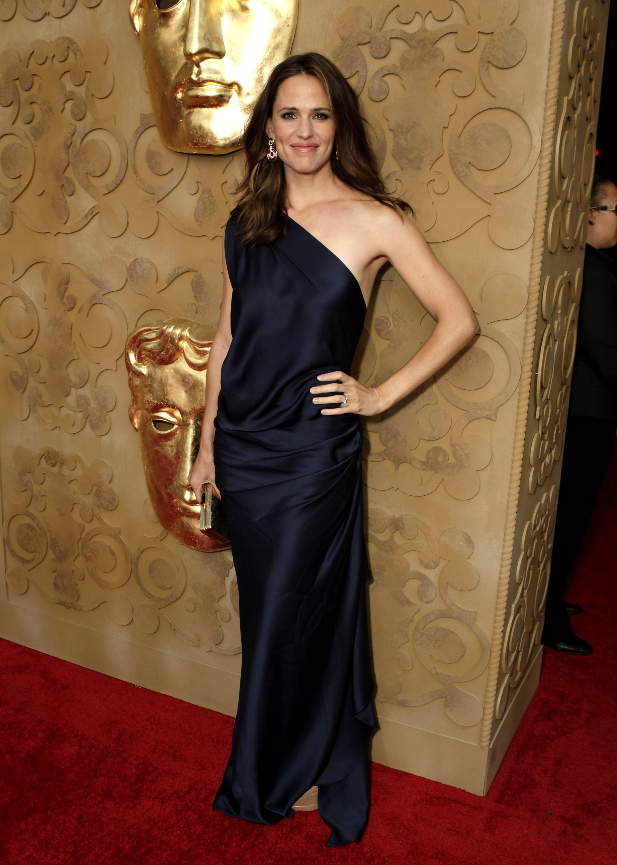 Jennifer Garner in a blue gown at the BAFTA Brits to Watch event in LA.