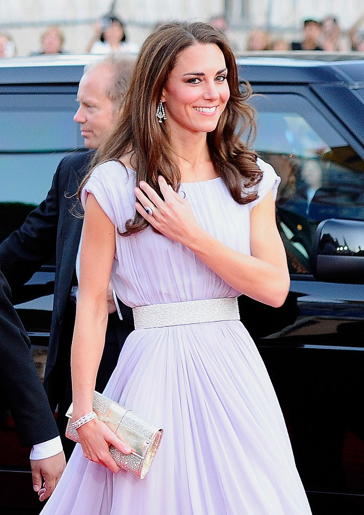 Kate Middleton in a lilac Alexander McQueen in LA.