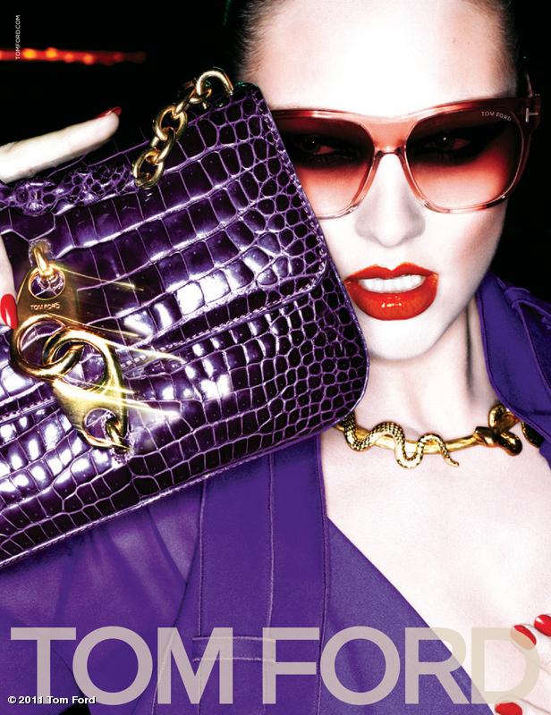 Candice Swanepoel Vamps for Tom Ford's Fall 2011 Campaign