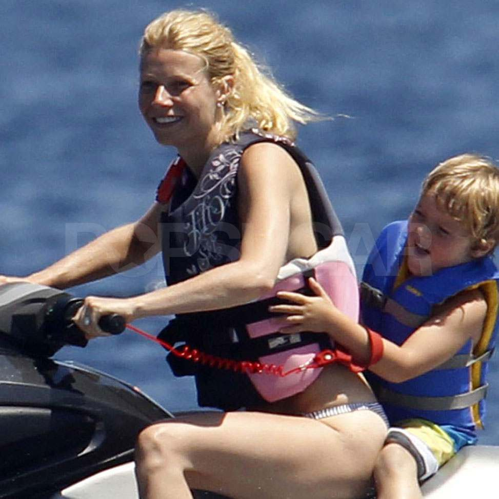 Gwyneth Paltrow on vacation with her kids.