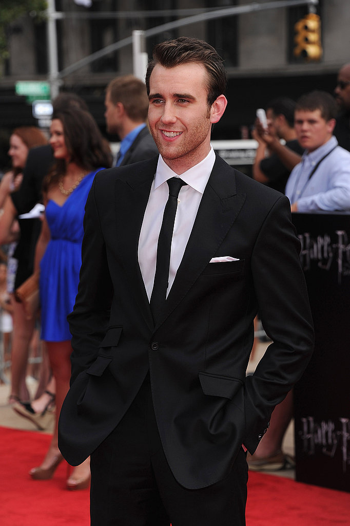 A slightly more casual Matthew Lewis suits up for the Harry Potter and the Deathly Hallows Part II premiere in New York.
