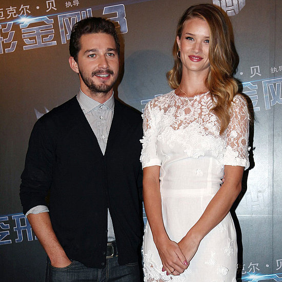 Shia LaBeouf and Rosie Huntington-Whiteley in China