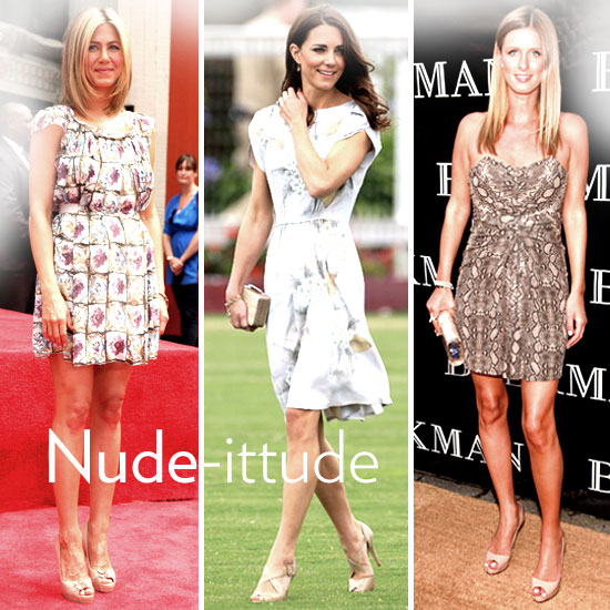 Shop Nude Pumps and Heels For Summer