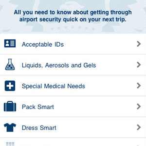 TSA iPhone Apps