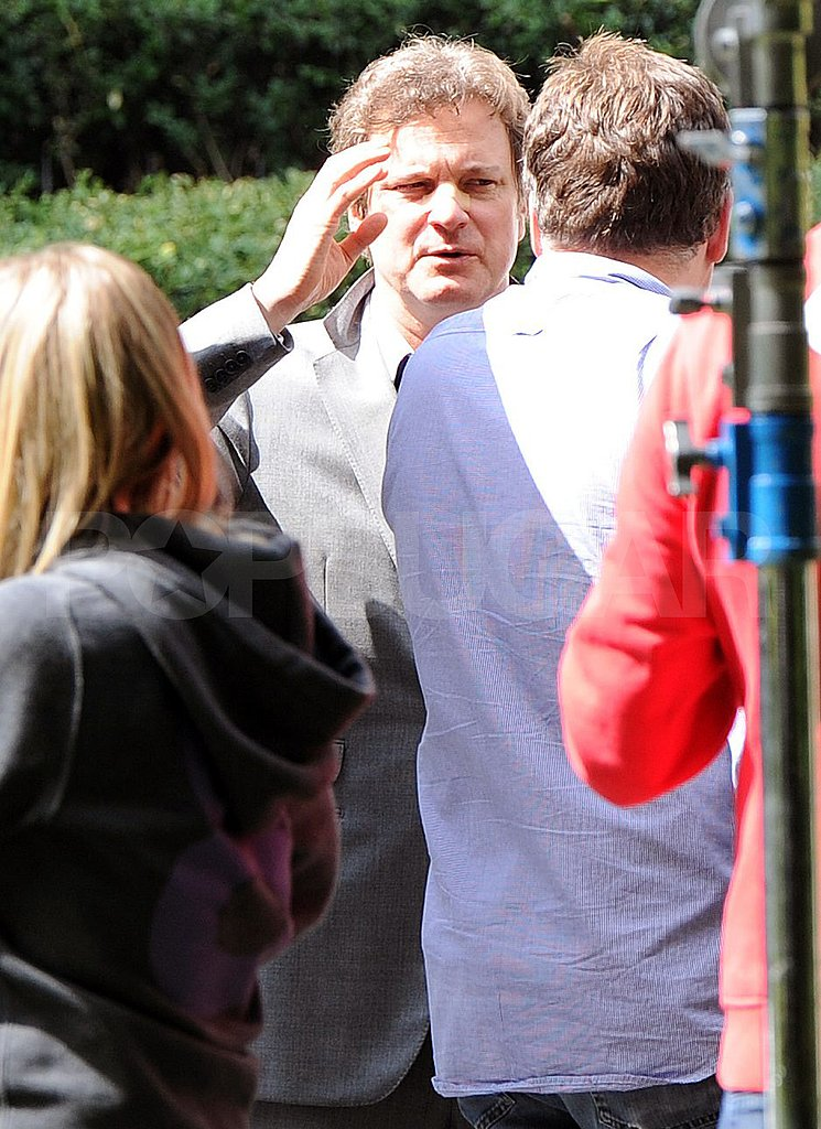 Colin Firth shoots Gambit in London.