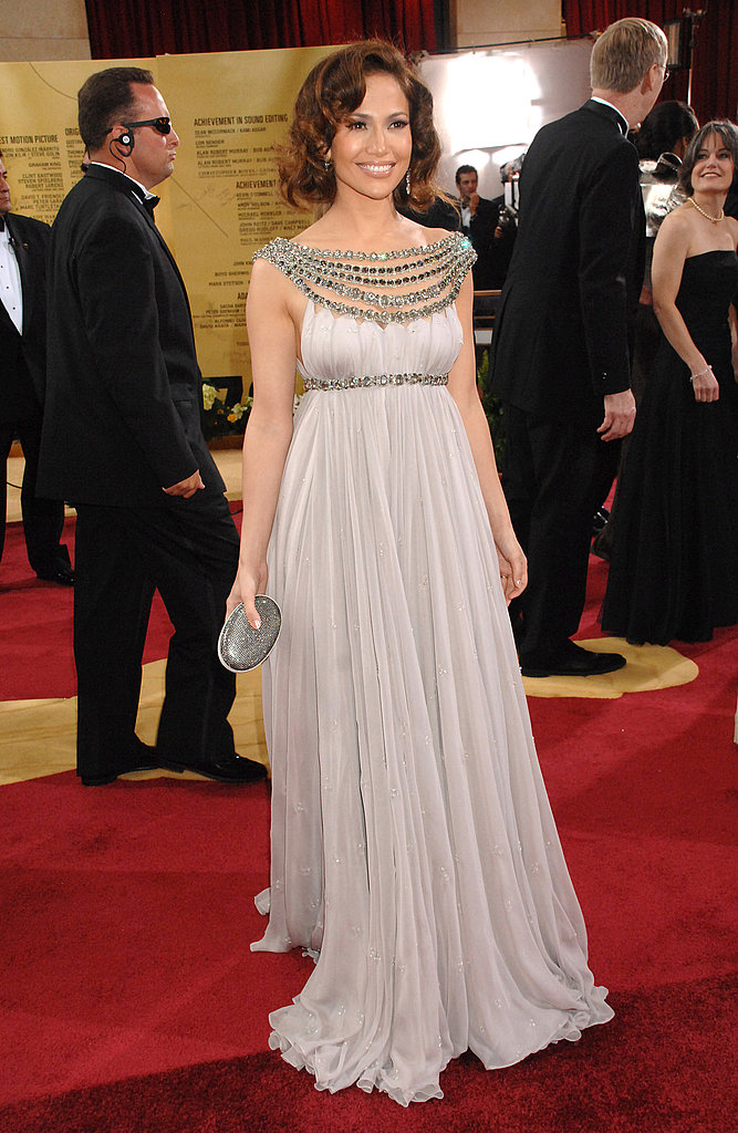 Glam for the 2007 Oscars in a standout Marchesa gown.