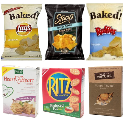 Low Calorie Crackers and Potato Chips