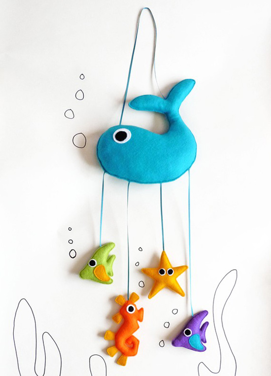 "Felt ""Under the Sea"" Mobile ($51)"