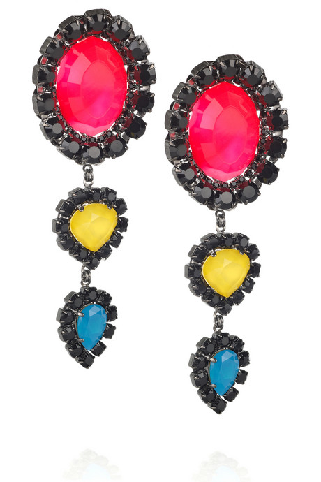 Erickson Beamon Neon Lucite Earrings ($480)