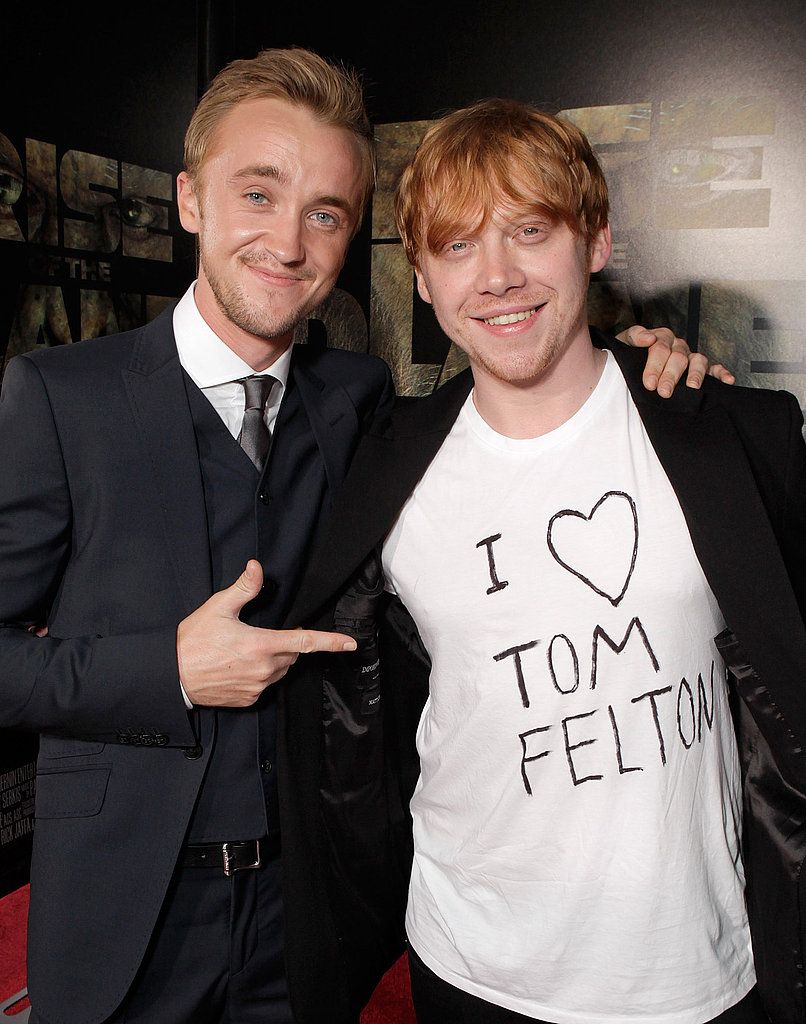 Photo of Tom Felton & his friend actor  Rupert Grint - Cast of Harry Potter