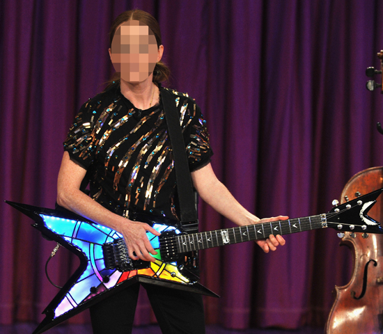 Guess Which Actress Rocked Out With a Colourful Guitar?