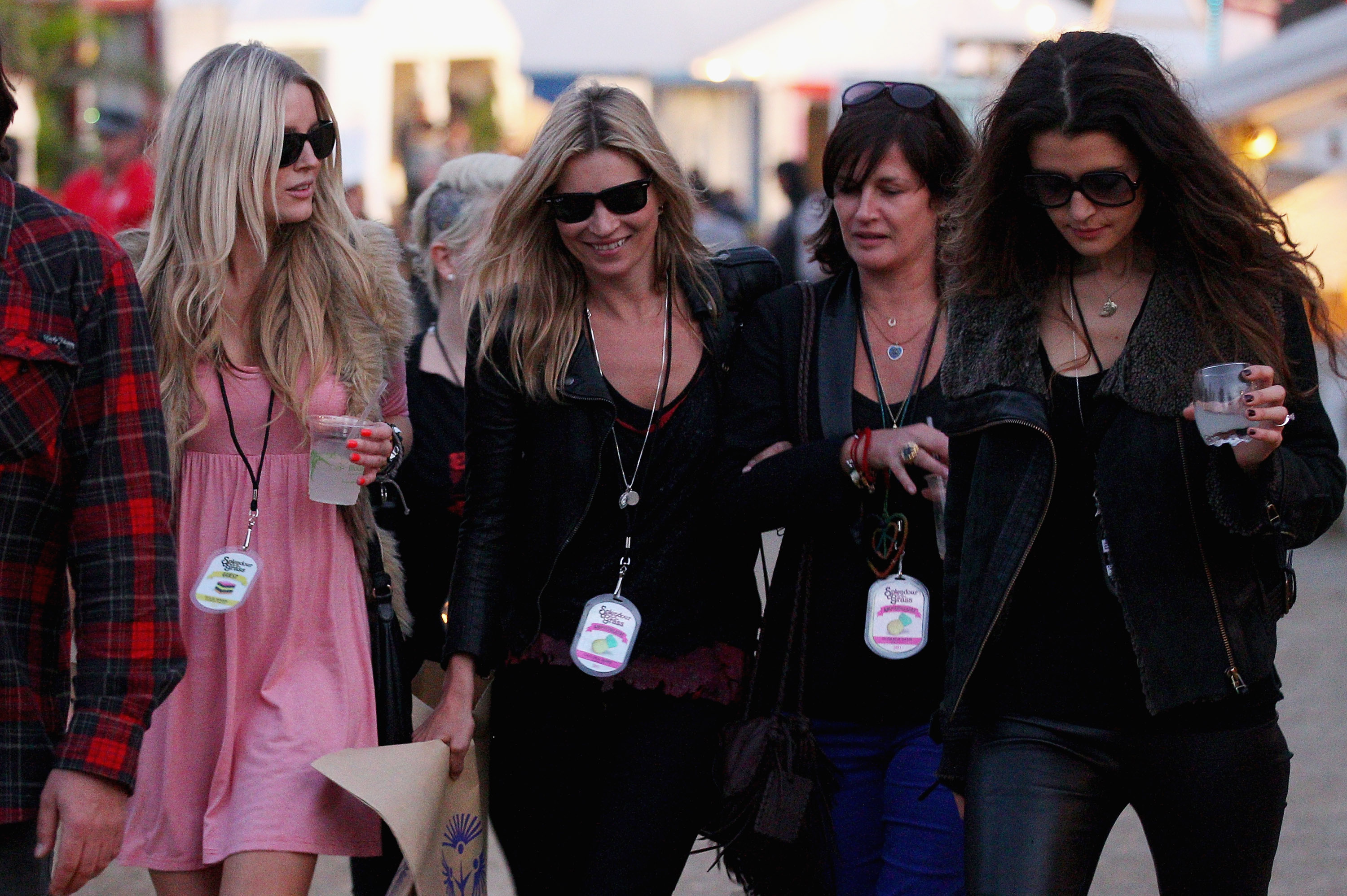 Kate Moss with Friends