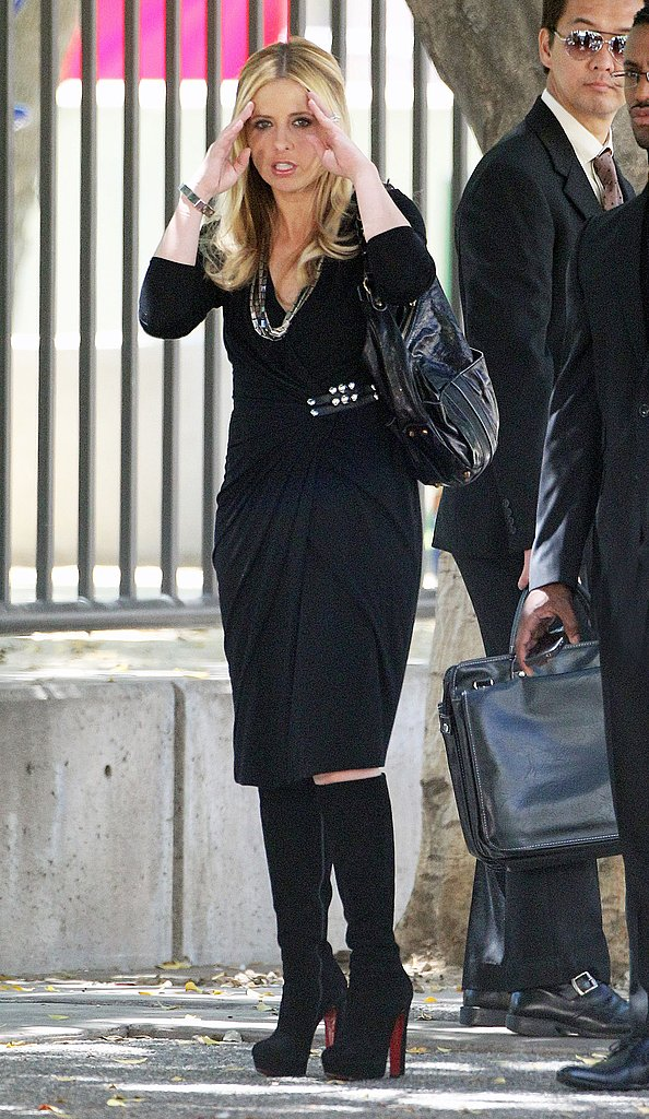 Sarah Michelle Gellar was on set in LA.