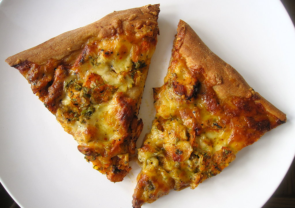 Chicken Pizza With Yellow Tomato Salsa