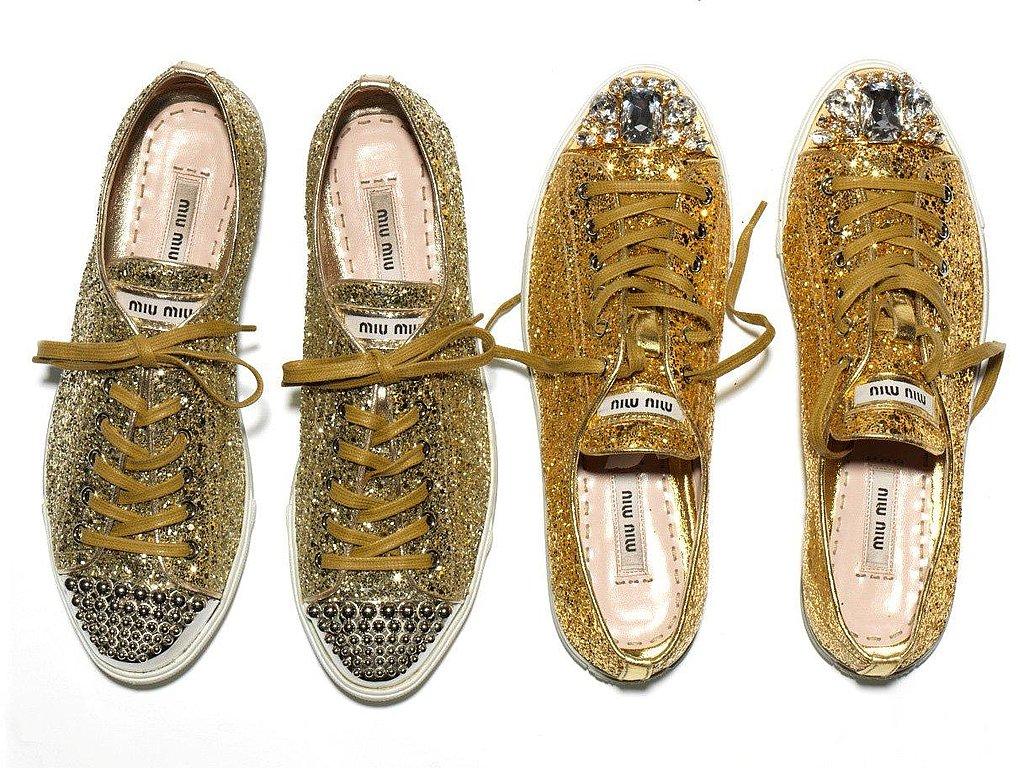 miu miu fall 2011 glitter sneakers popsugar fashion. Black Bedroom Furniture Sets. Home Design Ideas