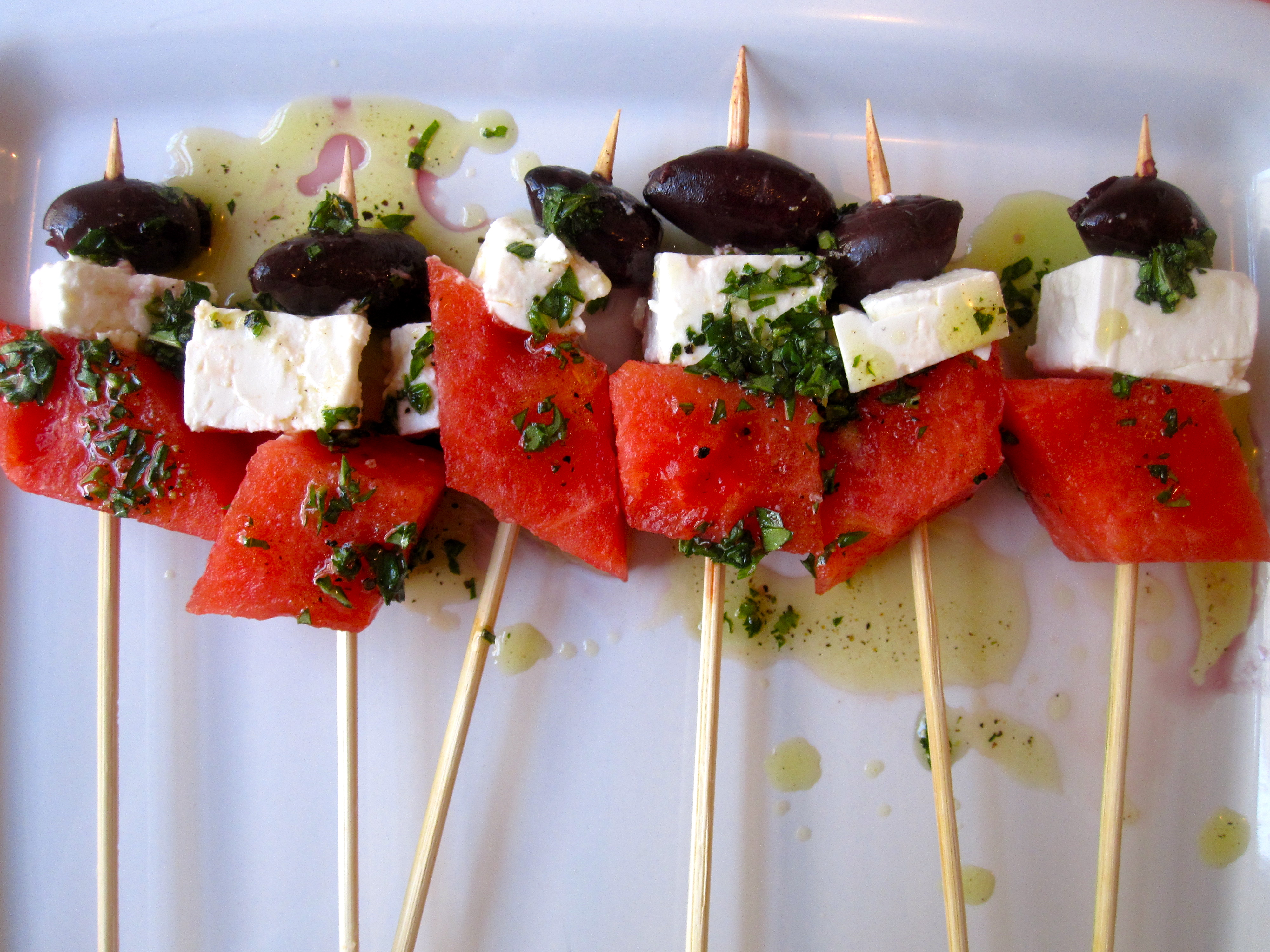 Watermelon and Feta Skewers Recipe | POPSUGAR Food