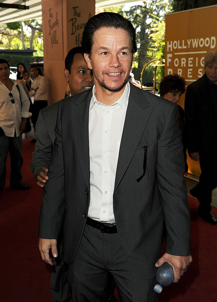 Mark Wahlberg flashed a smile.