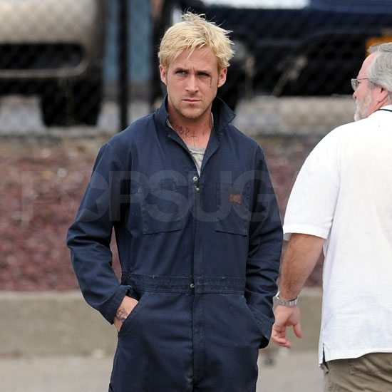 Ryan Gosling in Coveralls on the Place Beyond the Pines Set