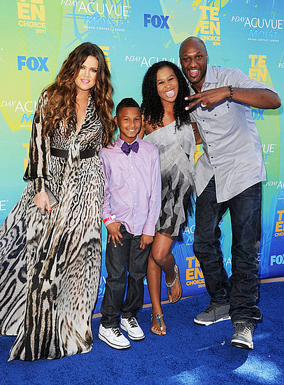 Khloe Kardashian, Lamar Jr., Destiny and Lamar Odom (2011 Teen Choice Awards)