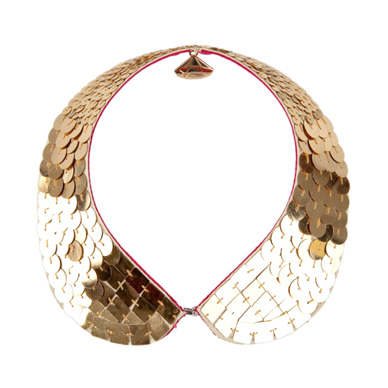 Gemma Lister Gold Sequin Necklace, $79
