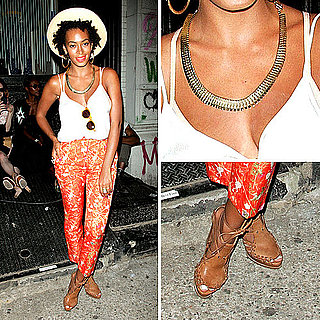 Solange Knowles Printed Pants Style