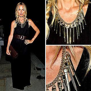 Rachel Zoe Style: Black Dress and Necklace