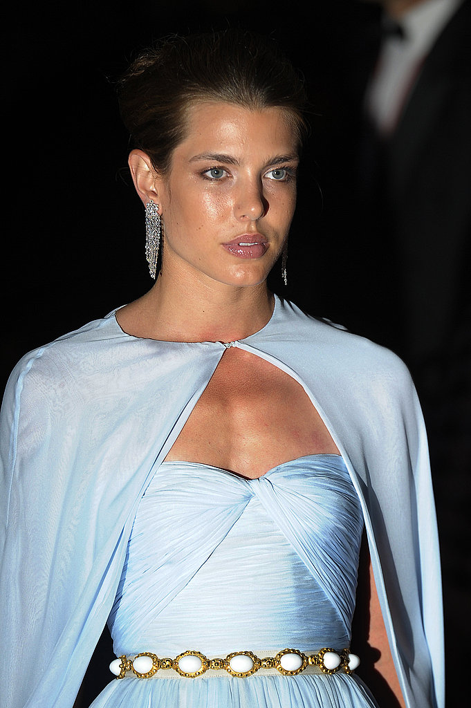 Charlotte looked like a true princess at the dinner following Prince Albert and Princess Charlene's religious wedding ceremony in July 2011.