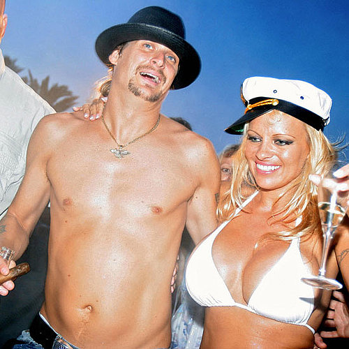 Kid Rock and Pamela Anderson celebrated with Champagne and beer on the day of their July 2006 St.-Tropez wedding.