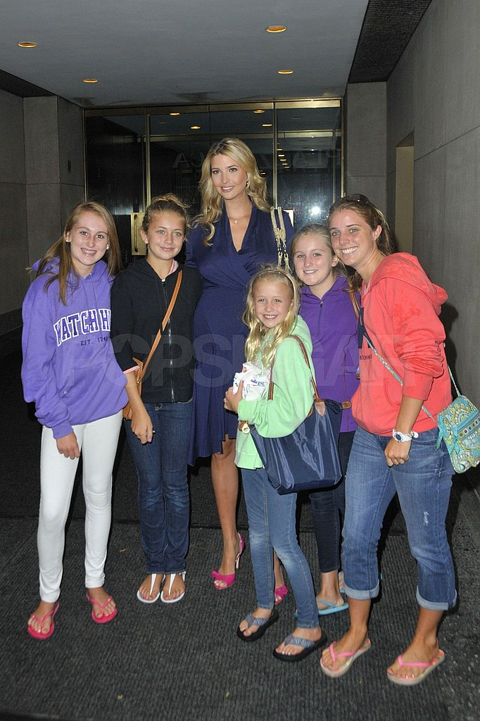 Ivanka Trump posing with fans at the Today Show.