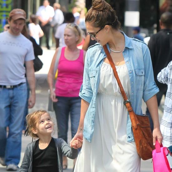 Jessica Alba and Honor Warren held hands in LA.