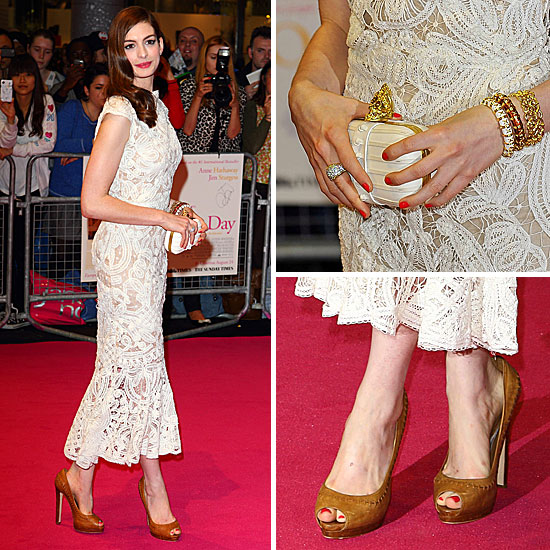 Anne Hathaway in Alexander McQueen at One Day Premiere 2011-08-23 14:58:37