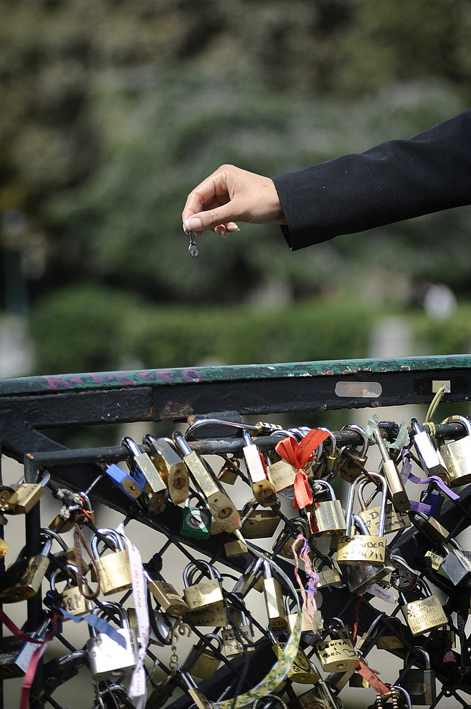 A woman threw away the key on a bridge in Paris.