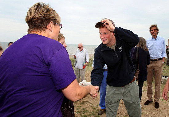 Prince Harry tipped his hat to a pair of lucky ladies.