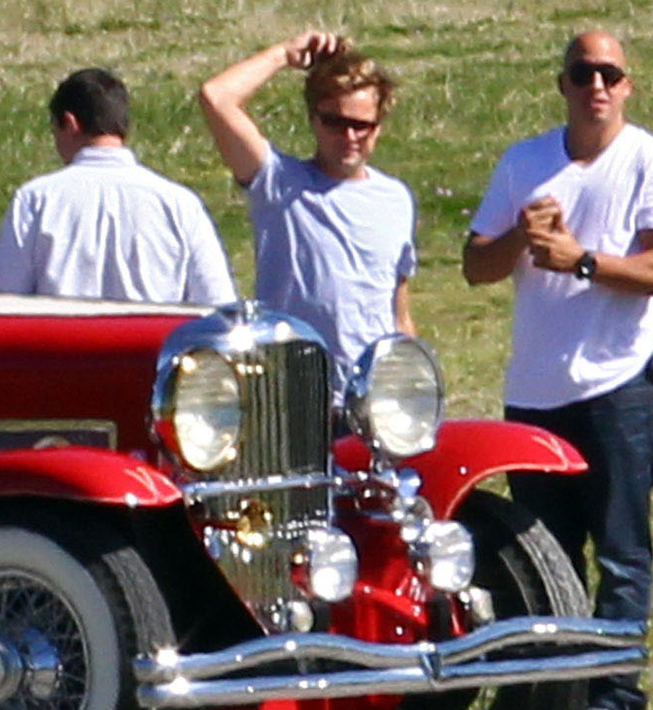 Leonardo DiCaprio and Tobey Maguire Ride an Amazing Vintage Car Shooting The Great Gatsby Down Under