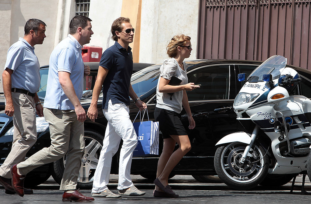 Princess Beatrice's boyfriend, Dave Clark, made the trip to Rome.
