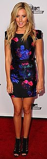 Ashley Tisdale in Floral Tibi Dress