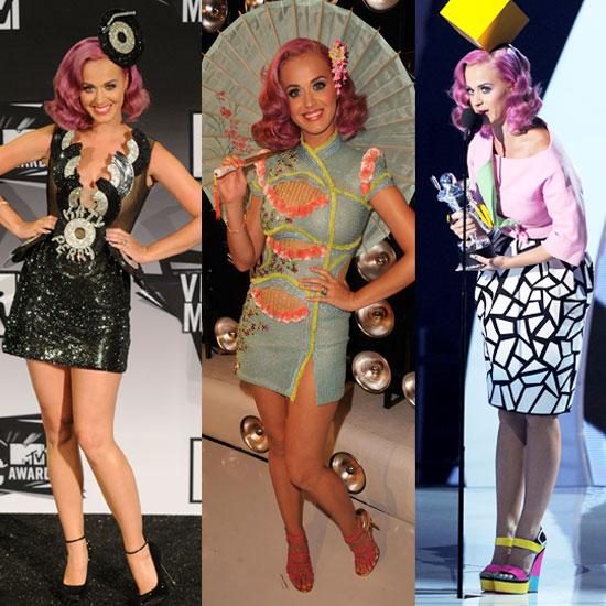 Katy Perry Outfits at VMAs 2011